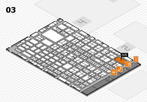 MEDICA 2016 hall map (Hall 3): stand A08