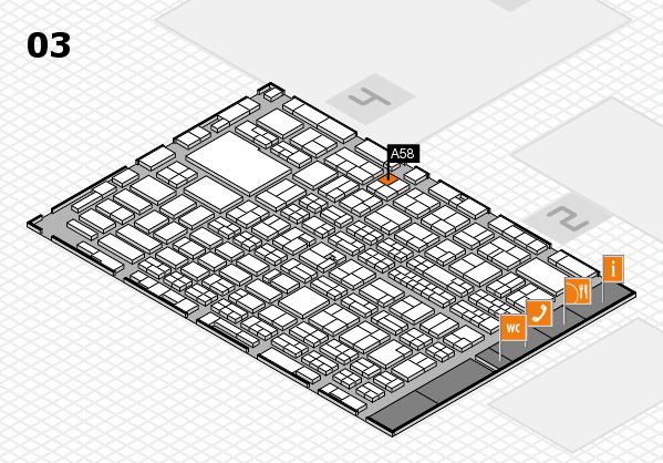 MEDICA 2016 hall map (Hall 3): stand A58