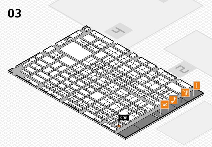 MEDICA 2016 hall map (Hall 3): stand K05
