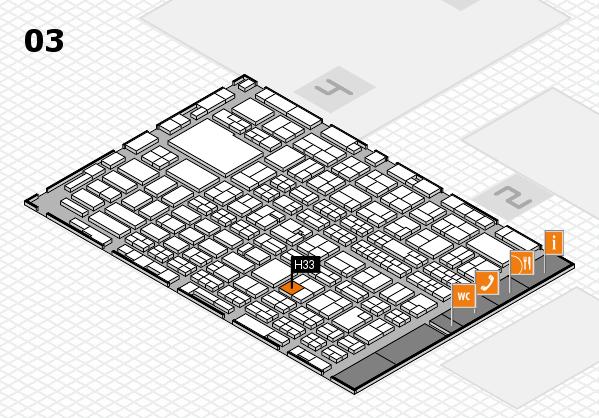 MEDICA 2016 hall map (Hall 3): stand H33