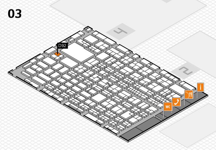 MEDICA 2016 hall map (Hall 3): stand D92