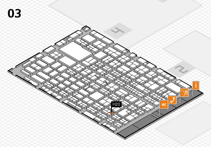MEDICA 2016 hall map (Hall 3): stand H20