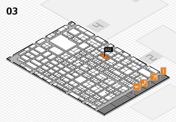 MEDICA 2016 hall map (Hall 3): stand B52