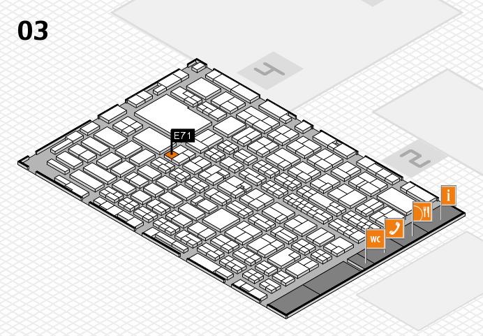 MEDICA 2016 hall map (Hall 3): stand E71