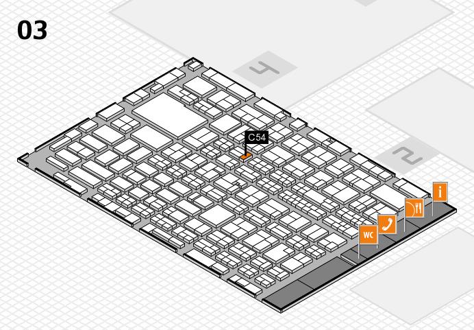 MEDICA 2016 hall map (Hall 3): stand C54