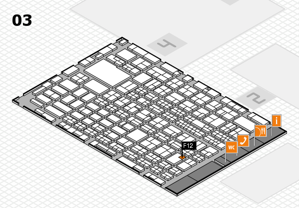 MEDICA 2016 hall map (Hall 3): stand F12
