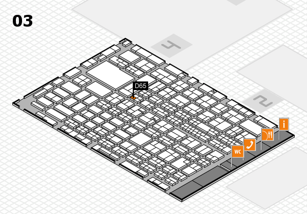 MEDICA 2016 hall map (Hall 3): stand D65