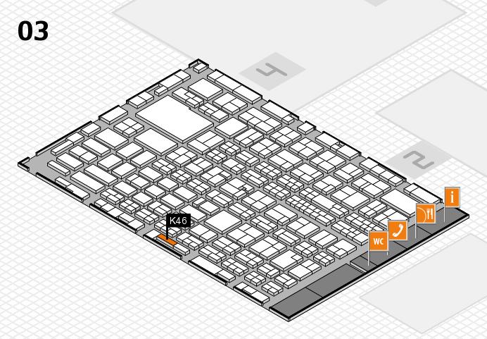 MEDICA 2016 hall map (Hall 3): stand K46