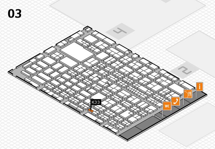 MEDICA 2016 hall map (Hall 3): stand K33