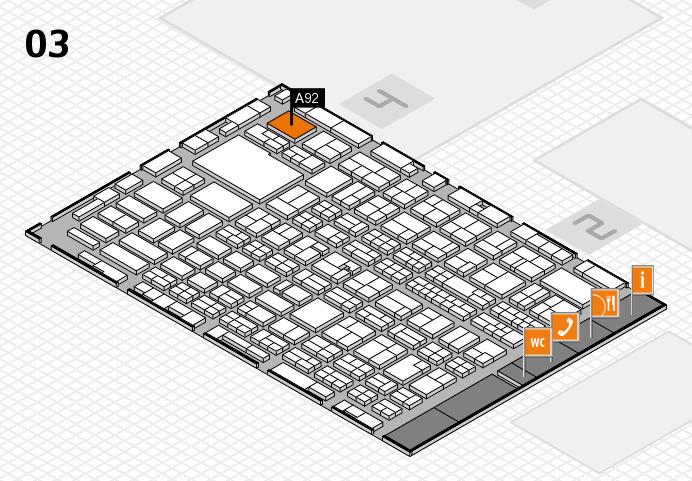 MEDICA 2016 hall map (Hall 3): stand A92
