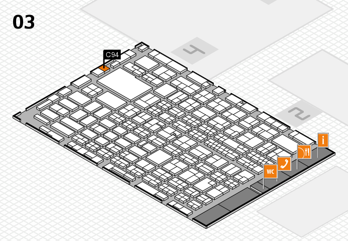 MEDICA 2016 hall map (Hall 3): stand C94