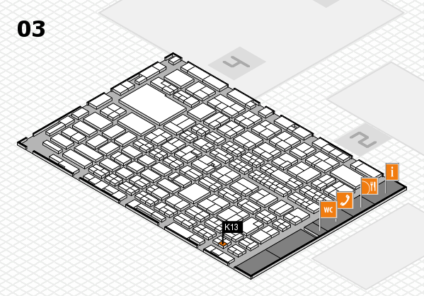 MEDICA 2016 hall map (Hall 3): stand K13