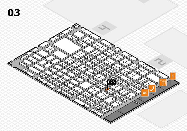 MEDICA 2016 hall map (Hall 3): stand E26