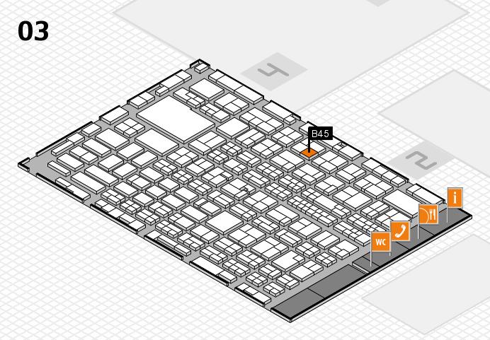 MEDICA 2016 hall map (Hall 3): stand B45