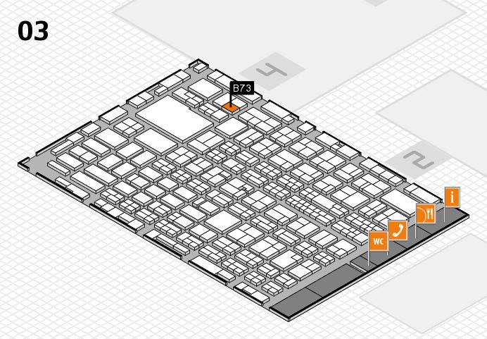 MEDICA 2016 hall map (Hall 3): stand B73