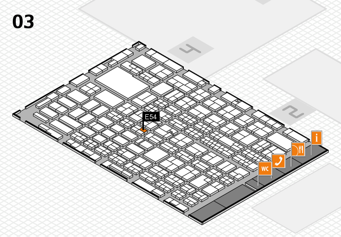 MEDICA 2016 hall map (Hall 3): stand E54
