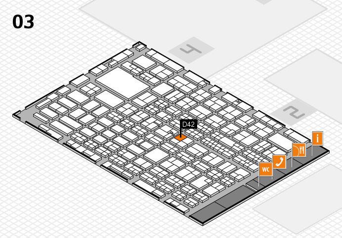 MEDICA 2016 hall map (Hall 3): stand D42
