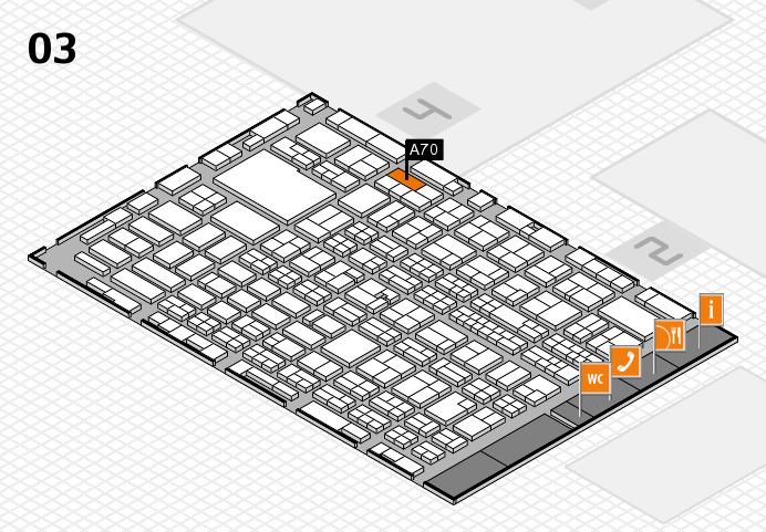 MEDICA 2016 hall map (Hall 3): stand A70