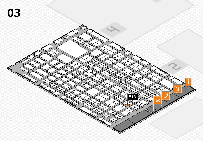 MEDICA 2016 hall map (Hall 3): stand F13