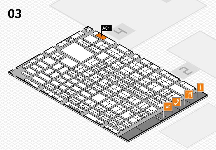 MEDICA 2016 hall map (Hall 3): stand A81