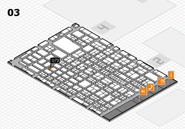 MEDICA 2016 hall map (Hall 3): stand G72