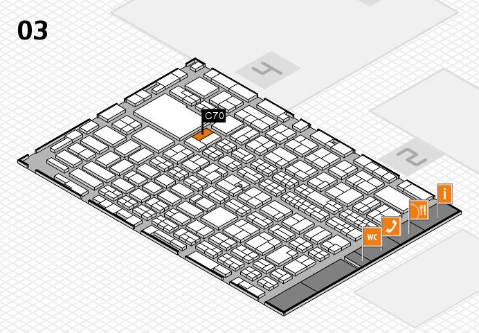 MEDICA 2016 hall map (Hall 3): stand C70