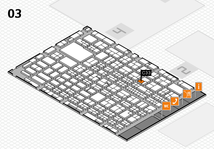 MEDICA 2016 hall map (Hall 3): stand C33