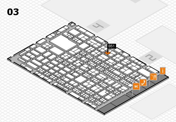 MEDICA 2016 hall map (Hall 3): stand B51