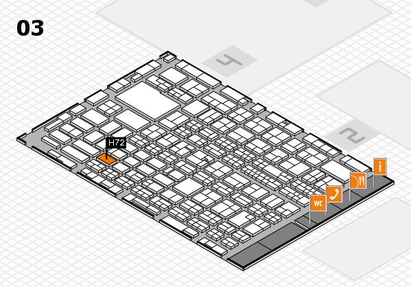 MEDICA 2016 hall map (Hall 3): stand H72