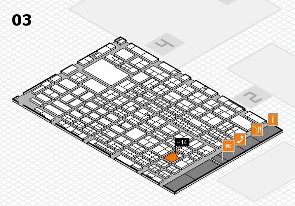 MEDICA 2016 hall map (Hall 3): stand H14