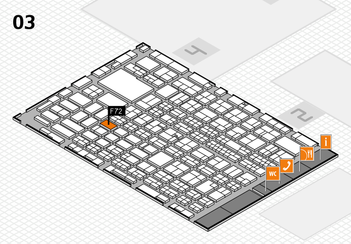 MEDICA 2016 hall map (Hall 3): stand F72