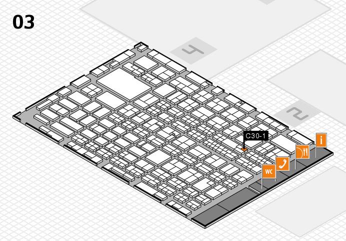 MEDICA 2016 hall map (Hall 3): stand C30-1