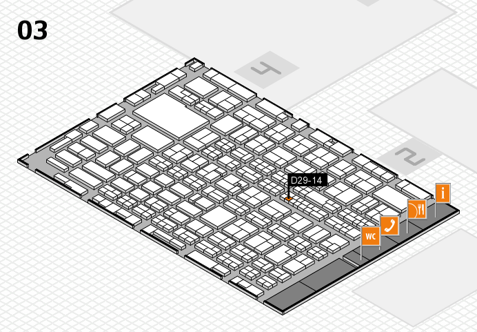 MEDICA 2016 hall map (Hall 3): stand D29-14