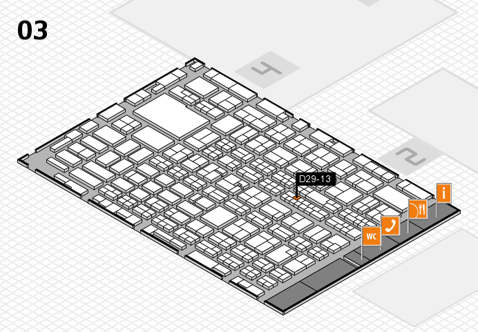 MEDICA 2016 hall map (Hall 3): stand D29-13