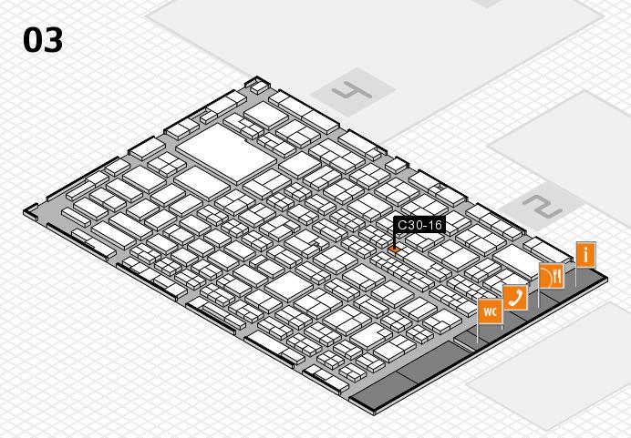 MEDICA 2016 hall map (Hall 3): stand C30-16