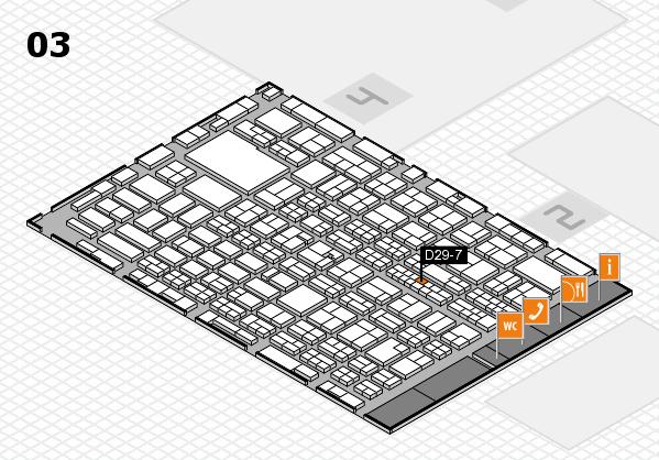 MEDICA 2016 hall map (Hall 3): stand D29-7