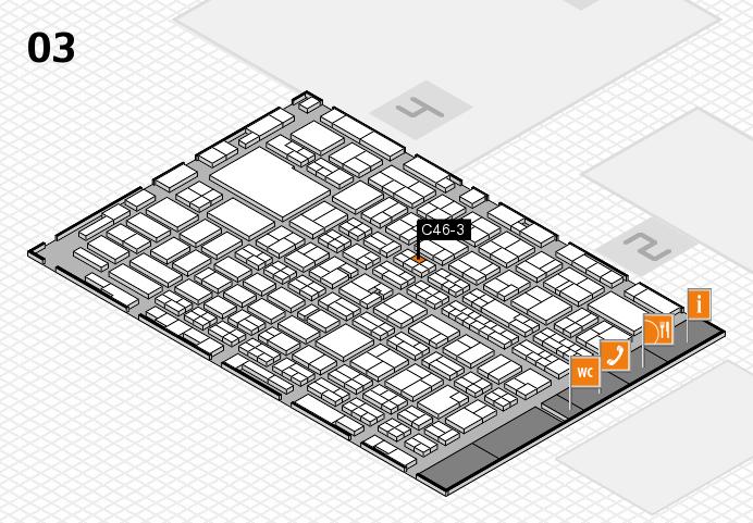 MEDICA 2016 hall map (Hall 3): stand C46-3