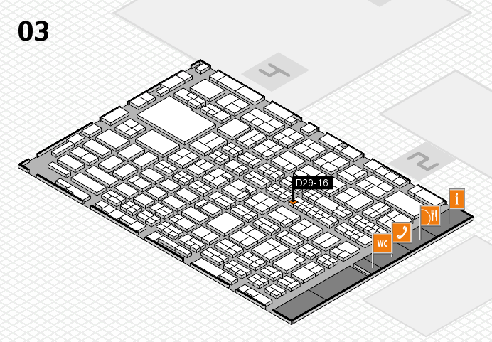MEDICA 2016 hall map (Hall 3): stand D29-16