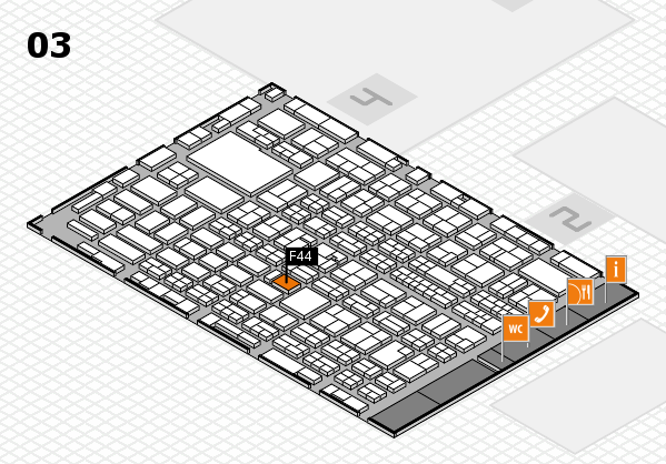MEDICA 2016 hall map (Hall 3): stand F44