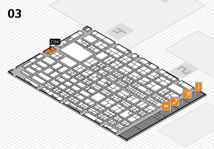 MEDICA 2016 hall map (Hall 3): stand D94