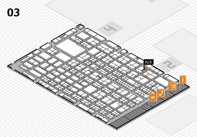 MEDICA 2016 hall map (Hall 3): stand A28