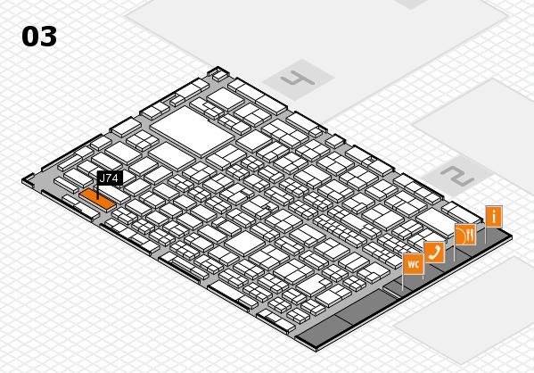 MEDICA 2016 hall map (Hall 3): stand J74