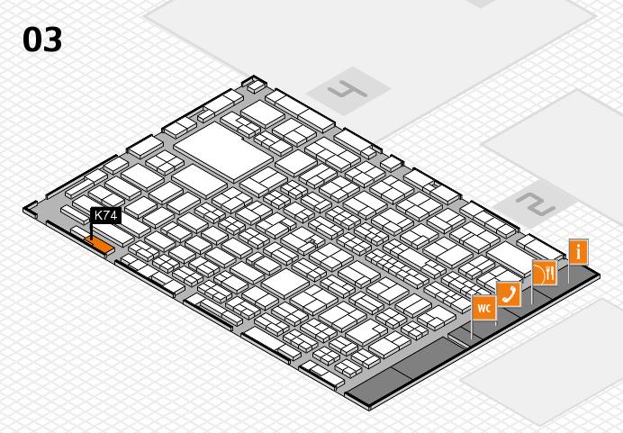 MEDICA 2016 hall map (Hall 3): stand K74