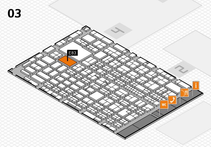 MEDICA 2016 hall map (Hall 3): stand E83