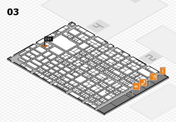 MEDICA 2016 hall map (Hall 3): stand E91