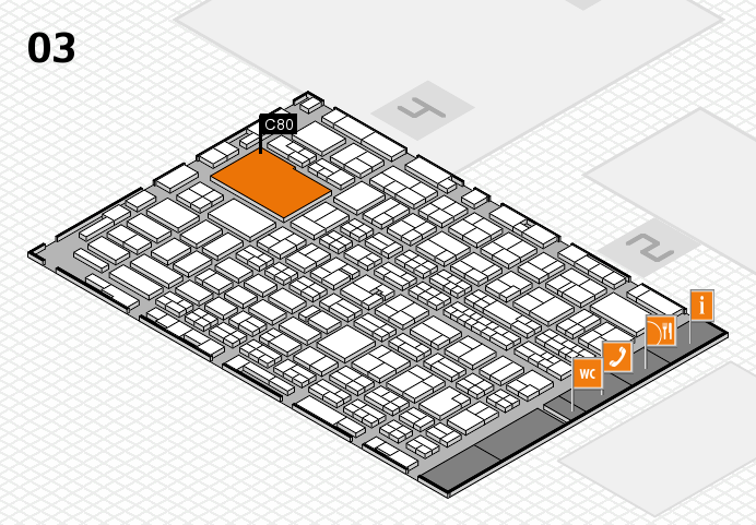 MEDICA 2016 hall map (Hall 3): stand C80