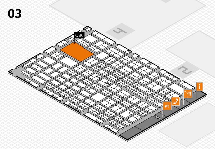 MEDICA 2016 Hallenplan (Halle 3): Stand C80