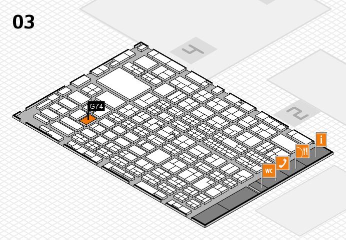 MEDICA 2016 hall map (Hall 3): stand G74