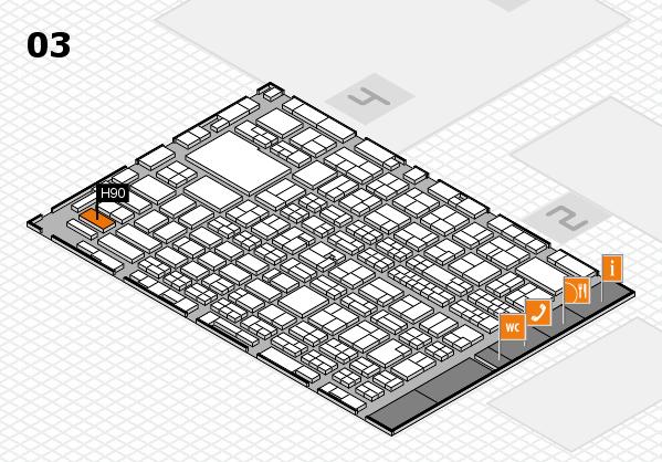 MEDICA 2016 hall map (Hall 3): stand H90
