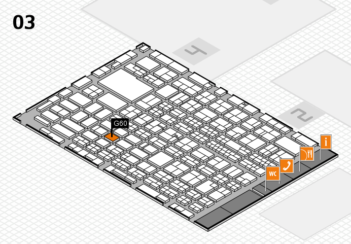 MEDICA 2016 hall map (Hall 3): stand G60